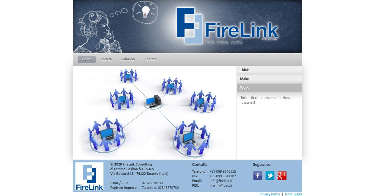 Sito web FireLink 2011